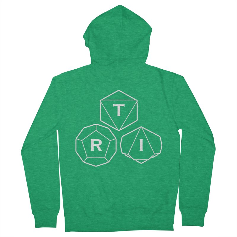 TRI White Logo Men's Zip-Up Hoody by The Role Initiative's Artist Shop