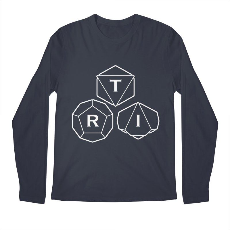 TRI White Logo Men's Regular Longsleeve T-Shirt by The Role Initiative's Artist Shop