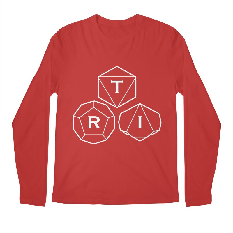 TRI White Logo Men's Regular Longsleeve T-Shirt by The Role Initiative's Artist Shop