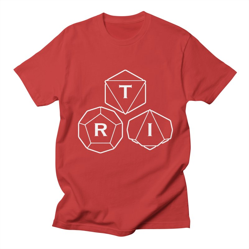 TRI White Logo Men's Regular T-Shirt by The Role Initiative's Artist Shop