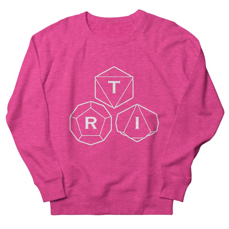 TRI White Logo Women's French Terry Sweatshirt by The Role Initiative's Artist Shop