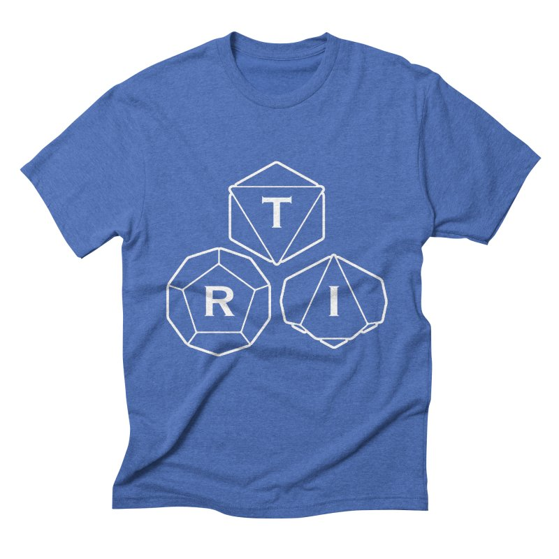 TRI White Logo Men's Triblend T-Shirt by The Role Initiative's Artist Shop