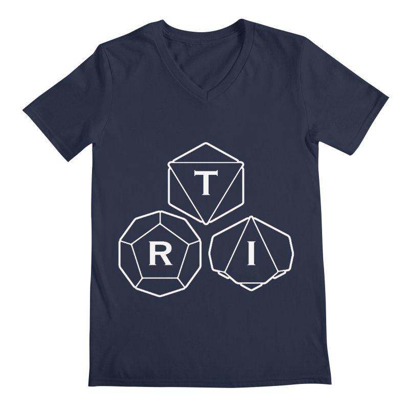 TRI White Logo Men's Regular V-Neck by The Role Initiative's Artist Shop