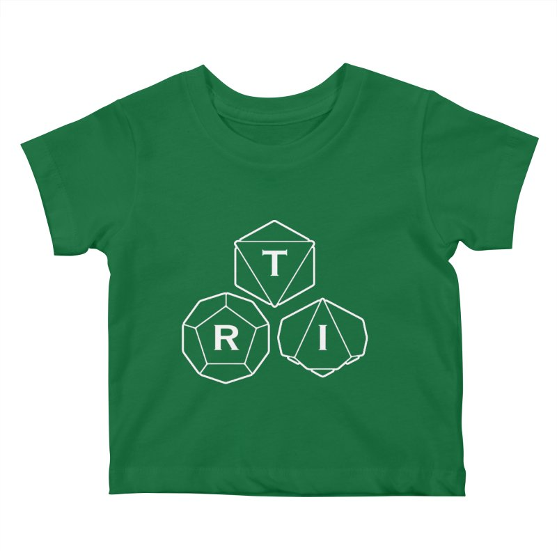 TRI White Logo Kids Baby T-Shirt by The Role Initiative's Artist Shop