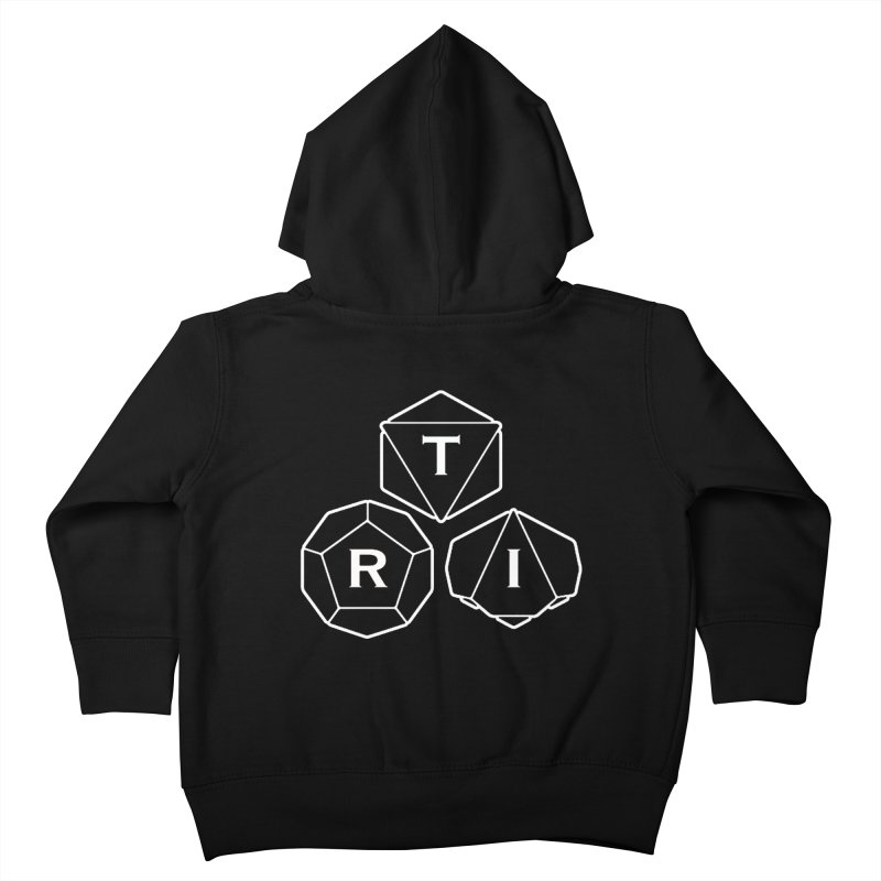 TRI White Logo Kids Toddler Zip-Up Hoody by The Role Initiative's Artist Shop