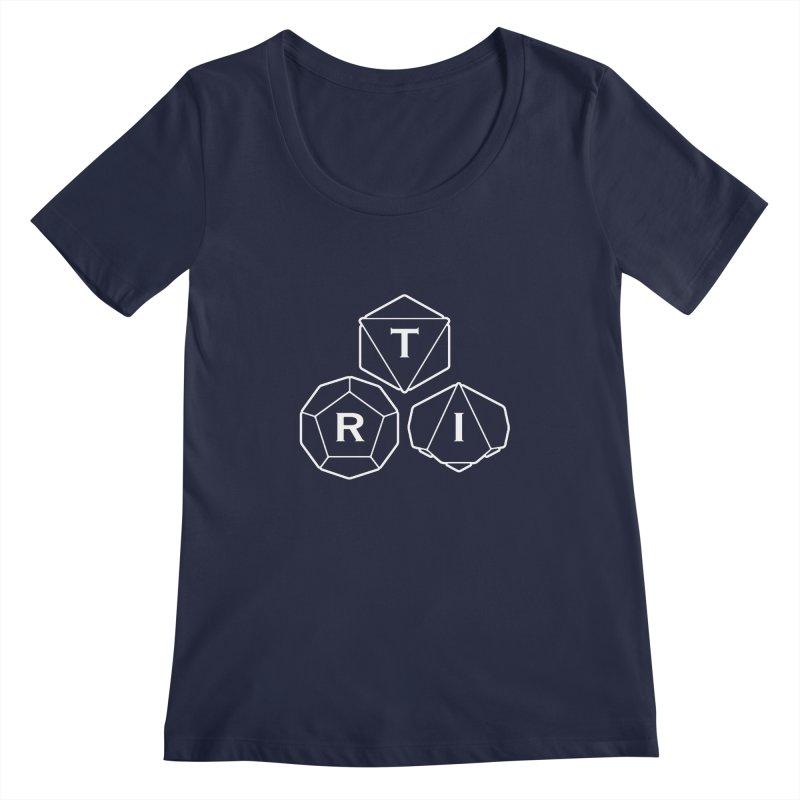 TRI White Logo Women's Regular Scoop Neck by The Role Initiative's Artist Shop
