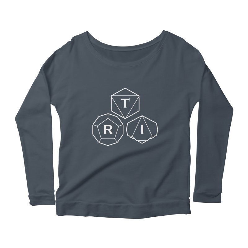 TRI White Logo Women's Scoop Neck Longsleeve T-Shirt by The Role Initiative's Artist Shop