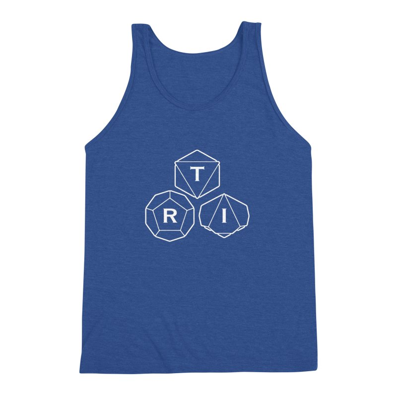 TRI White Logo Men's Triblend Tank by The Role Initiative's Artist Shop