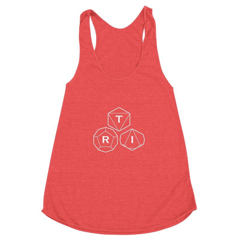 TRI White Logo Women's Racerback Triblend Tank by The Role Initiative's Artist Shop