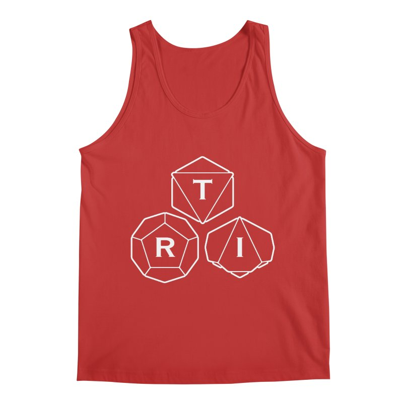 TRI White Logo Men's Regular Tank by The Role Initiative's Artist Shop