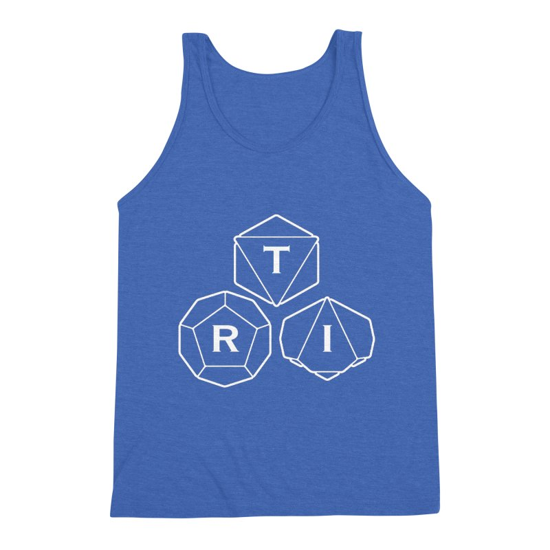 TRI White Logo Men's Triblend Tank by The Role Initiative's Artist Shop