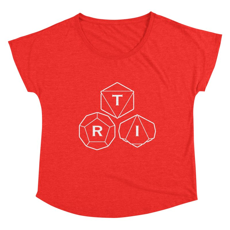 TRI White Logo Women's Scoop Neck by The Role Initiative's Artist Shop