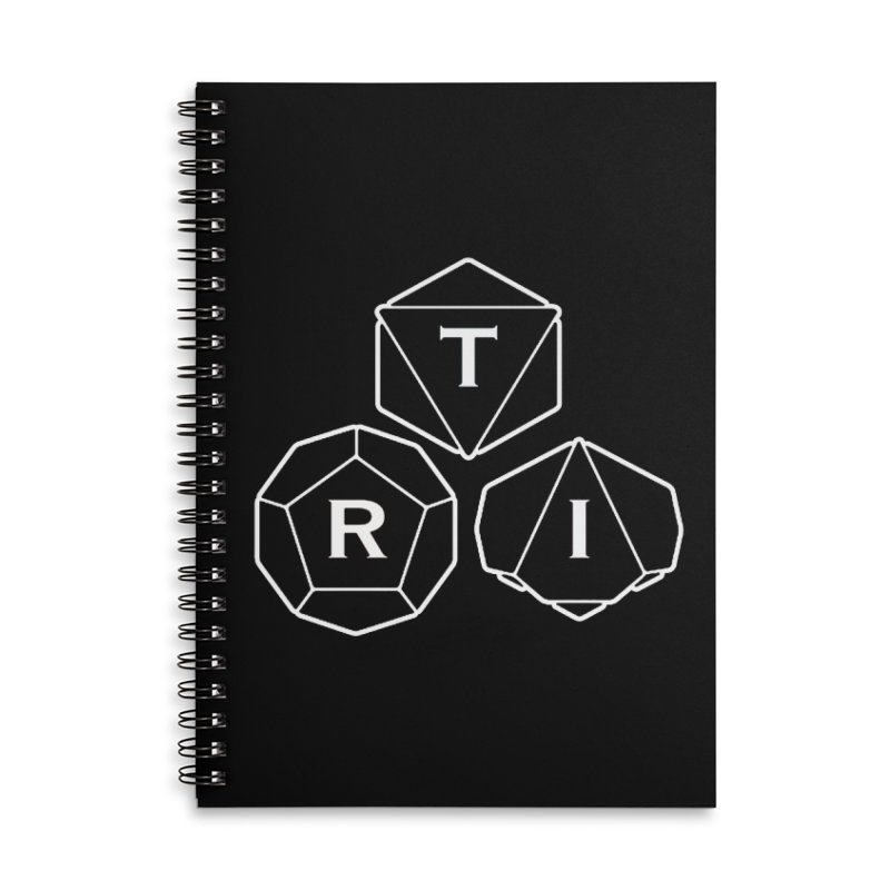 TRI White Logo Accessories Notebook by The Role Initiative's Artist Shop