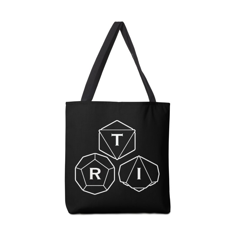 TRI White Logo Accessories Tote Bag Bag by The Role Initiative's Artist Shop
