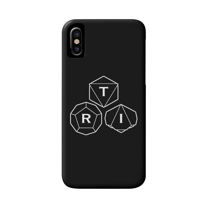 TRI White Logo Accessories Phone Case by The Role Initiative's Artist Shop