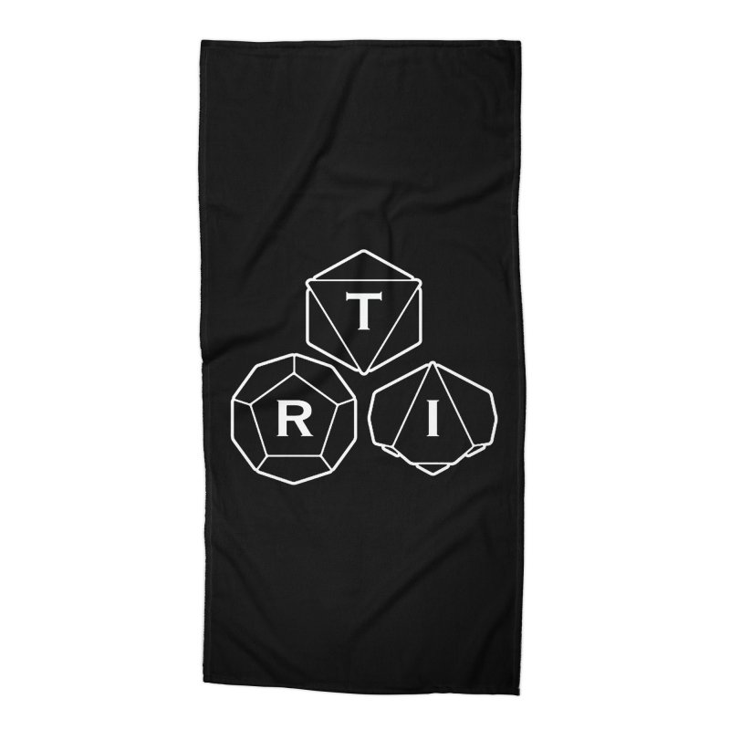 TRI White Logo Accessories Beach Towel by The Role Initiative's Artist Shop