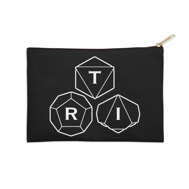 TRI White Logo Accessories Zip Pouch by The Role Initiative's Artist Shop