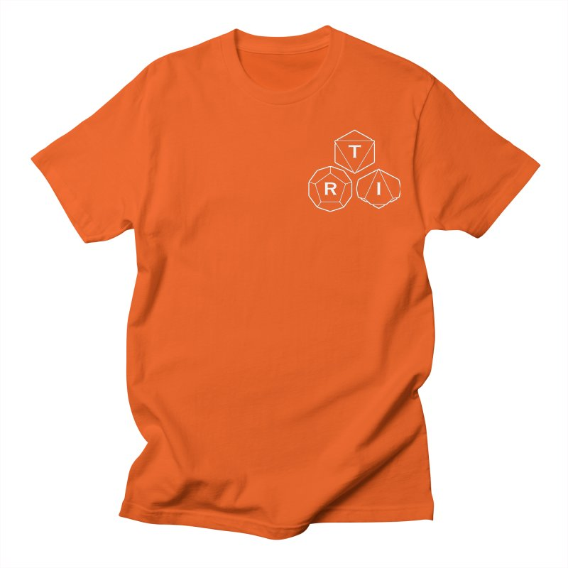 TRI Logo White, upper right Men's T-Shirt by The Role Initiative's Artist Shop