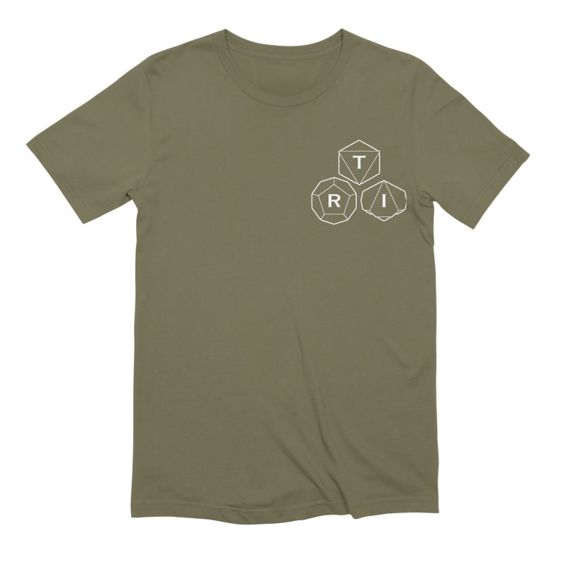 TRI Logo White, upper right Men's Extra Soft T-Shirt by The Role Initiative's Artist Shop
