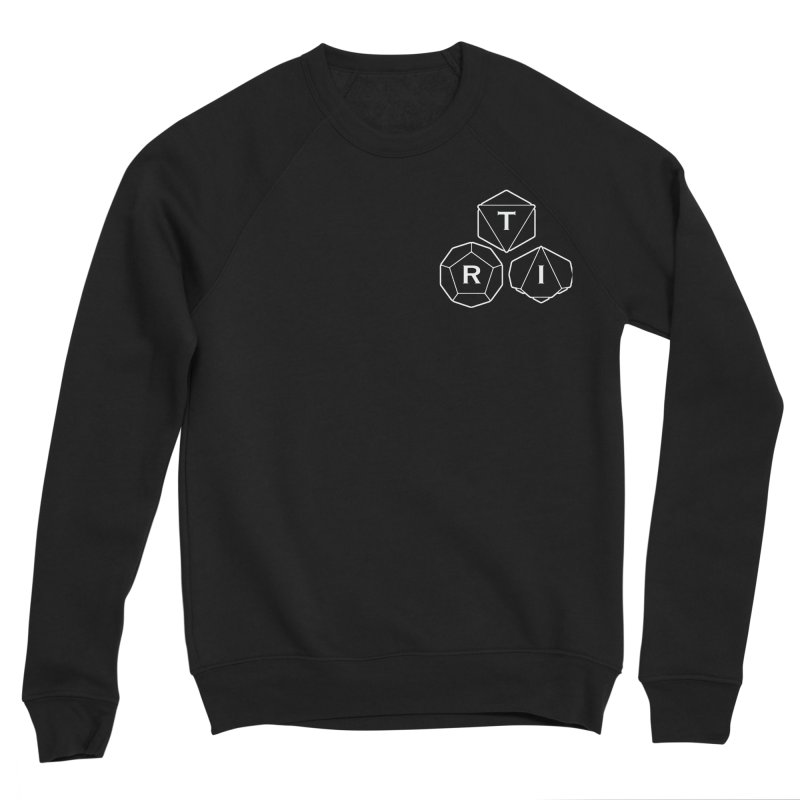 TRI Logo White, upper right Men's Sponge Fleece Sweatshirt by The Role Initiative's Artist Shop