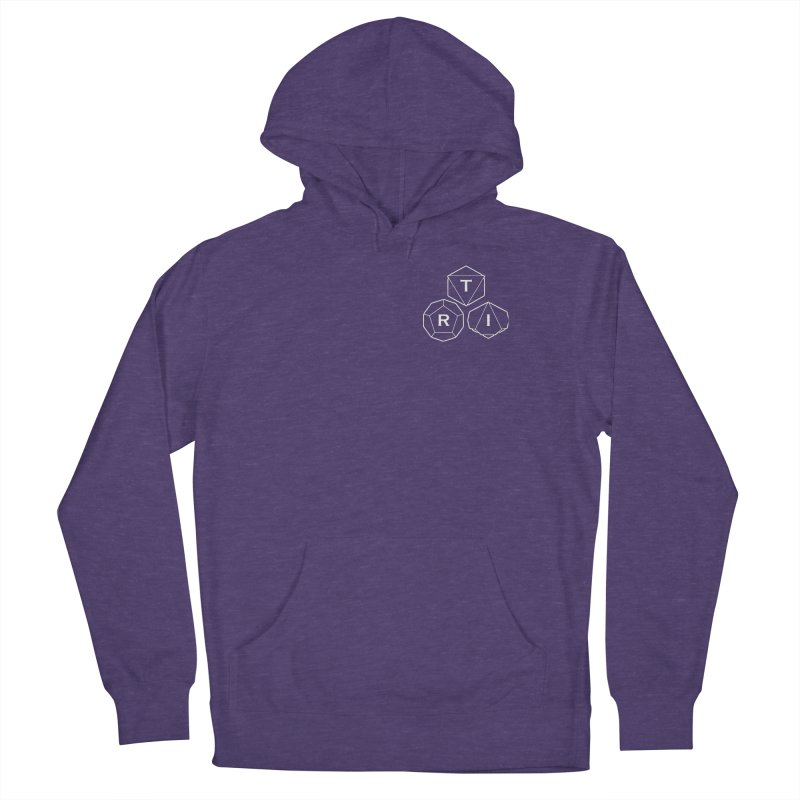 TRI Logo White, upper right Men's Pullover Hoody by The Role Initiative's Artist Shop