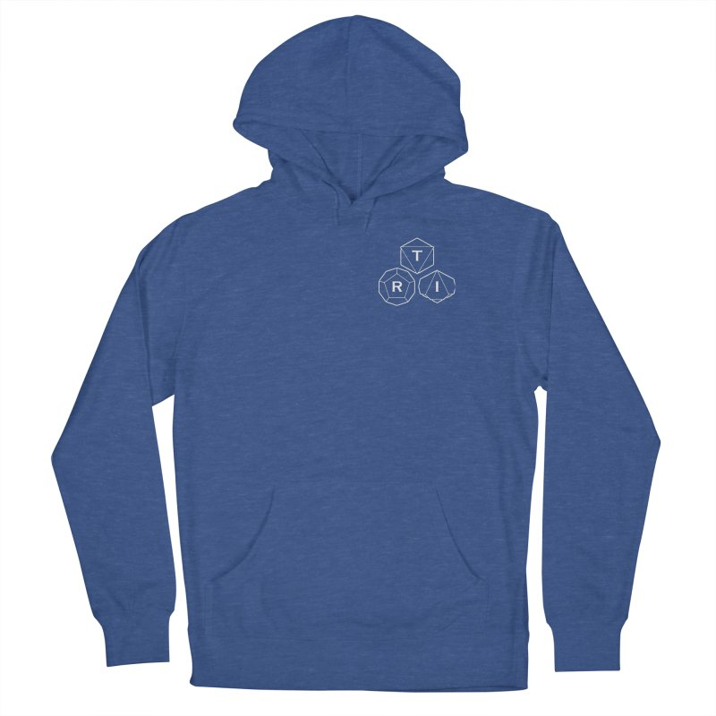TRI Logo White, upper right Women's Pullover Hoody by The Role Initiative's Artist Shop