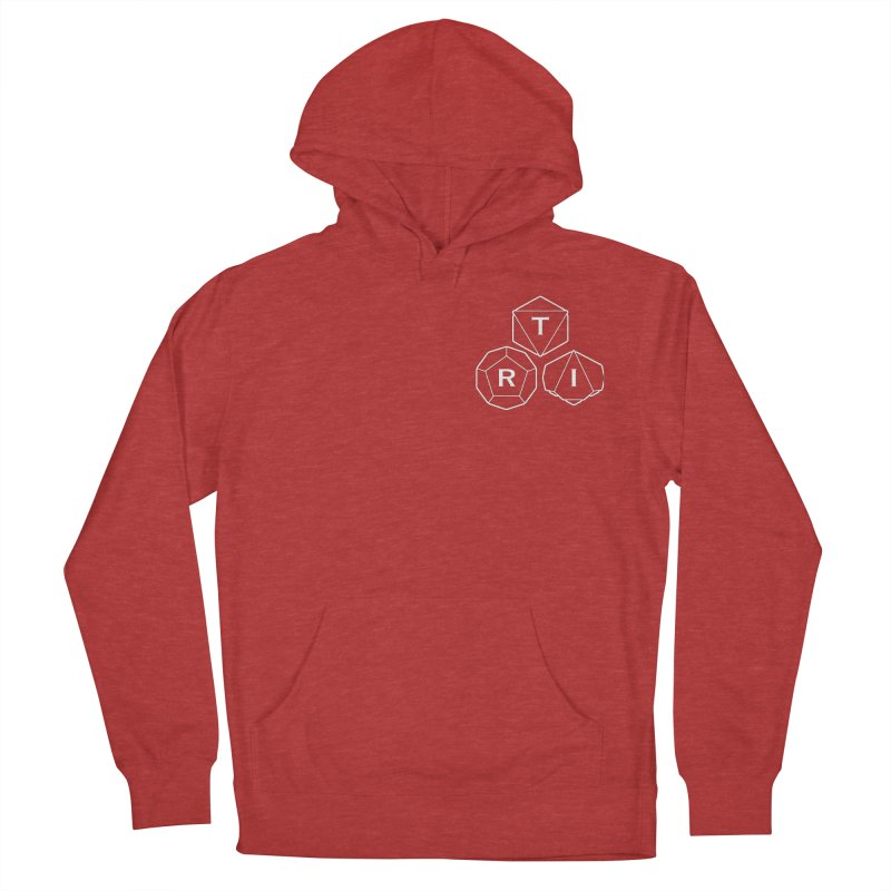 TRI Logo White, upper right Women's French Terry Pullover Hoody by The Role Initiative's Artist Shop