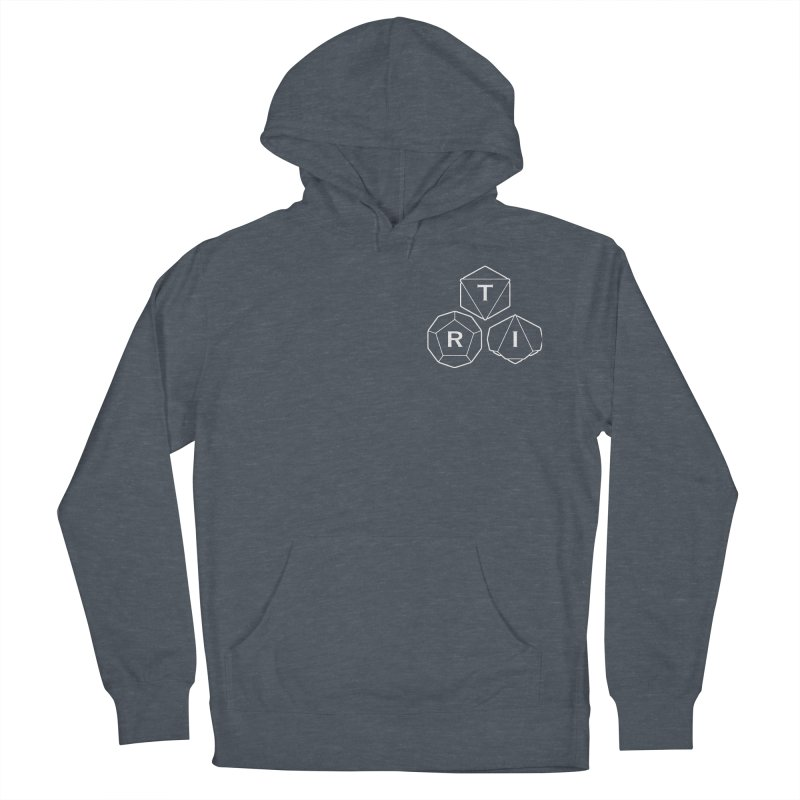 TRI Logo White, upper right Men's French Terry Pullover Hoody by The Role Initiative's Artist Shop