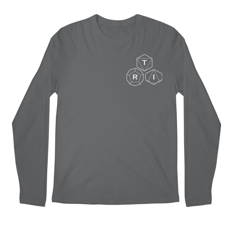TRI Logo White, upper right Men's Longsleeve T-Shirt by The Role Initiative's Artist Shop