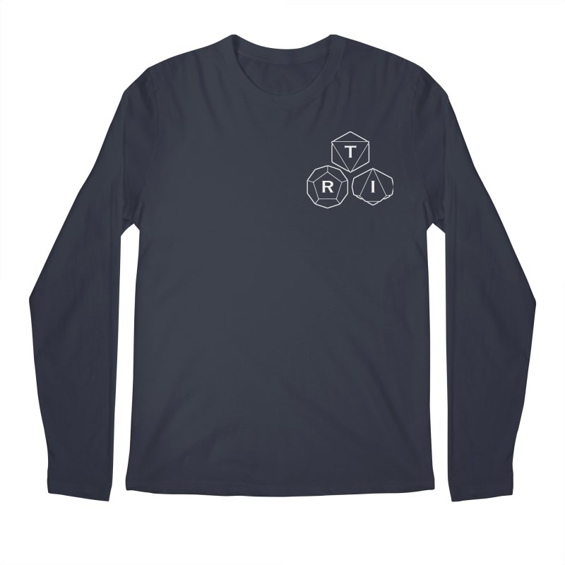 TRI Logo White, upper right Men's Regular Longsleeve T-Shirt by The Role Initiative's Artist Shop