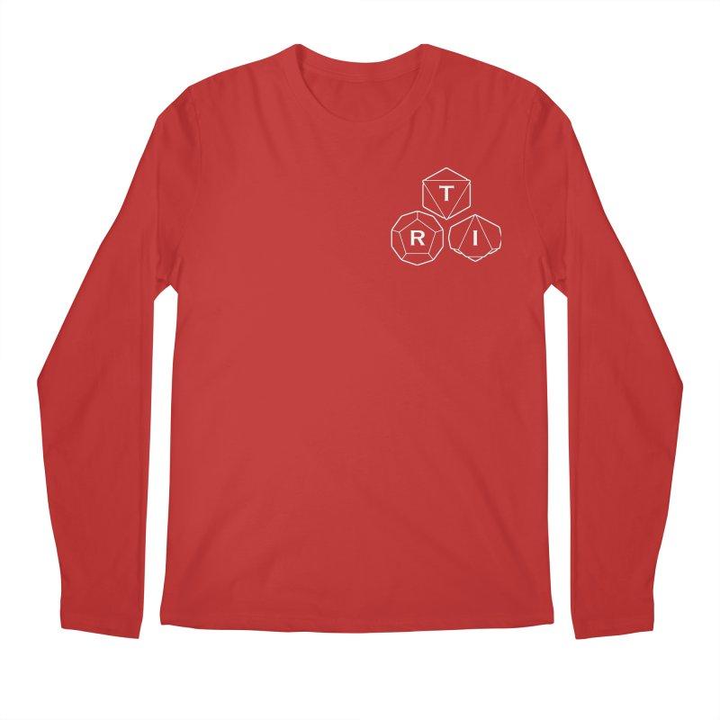 TRI Logo White, upper right Men's Regular Longsleeve T-Shirt by The Role Initiative's Artist Shop