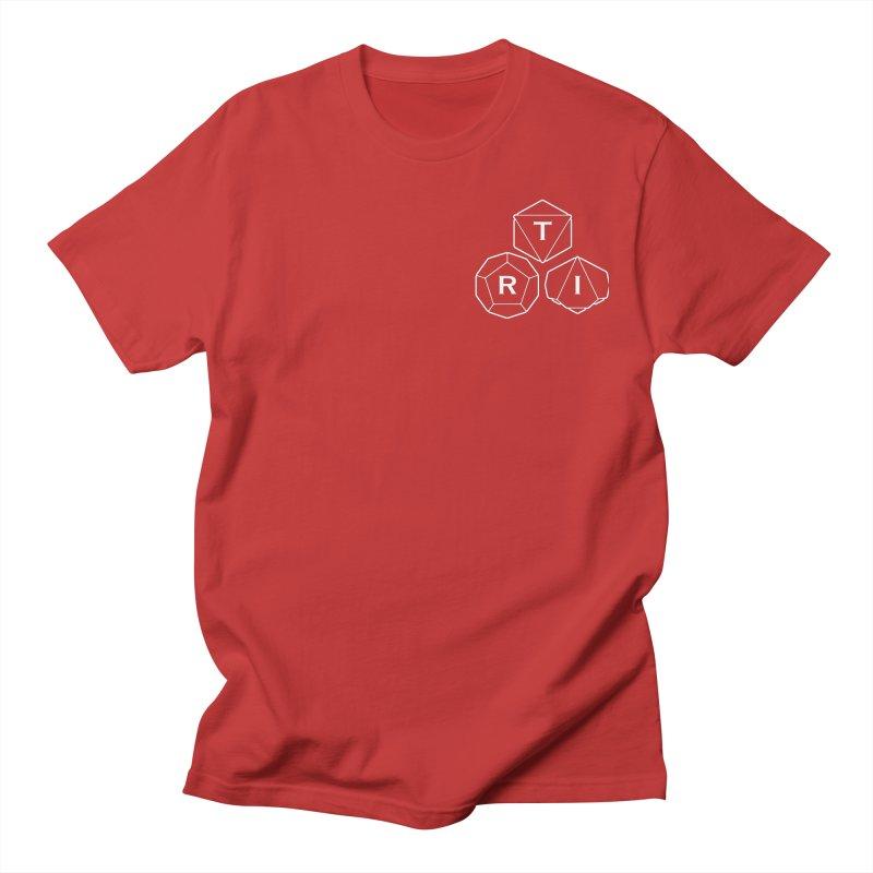 TRI Logo White, upper right Women's Regular Unisex T-Shirt by The Role Initiative's Artist Shop