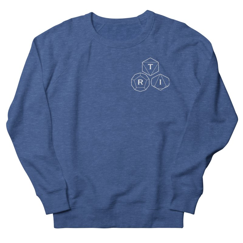 TRI Logo White, upper right Women's Sweatshirt by The Role Initiative's Artist Shop