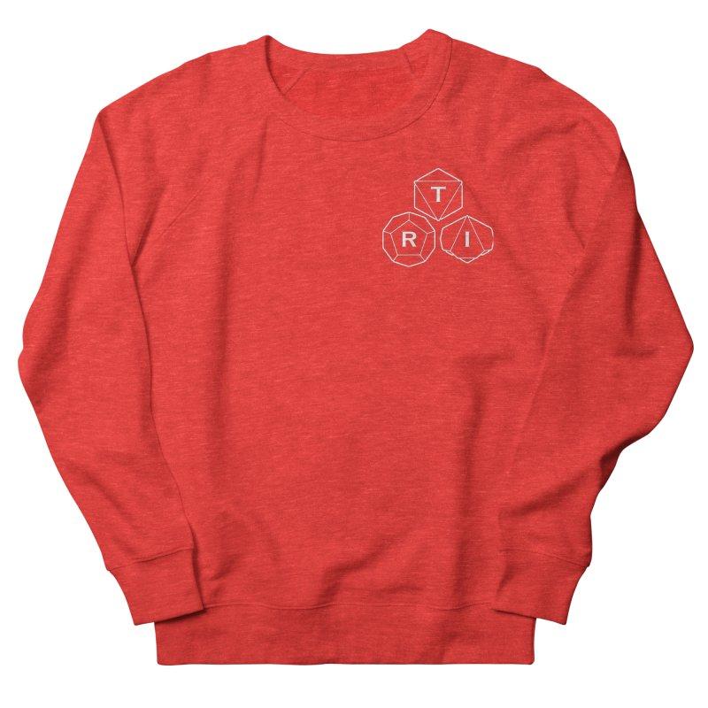 TRI Logo White, upper right Women's Sweatshirt by The Role Initiative's Artist Shop
