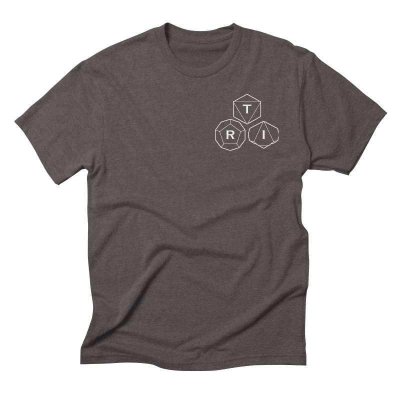 TRI Logo White, upper right Men's Triblend T-Shirt by The Role Initiative's Artist Shop