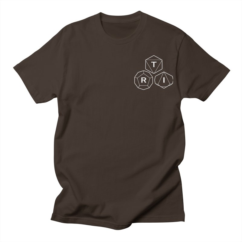 TRI Logo White, upper right Men's Regular T-Shirt by The Role Initiative's Artist Shop