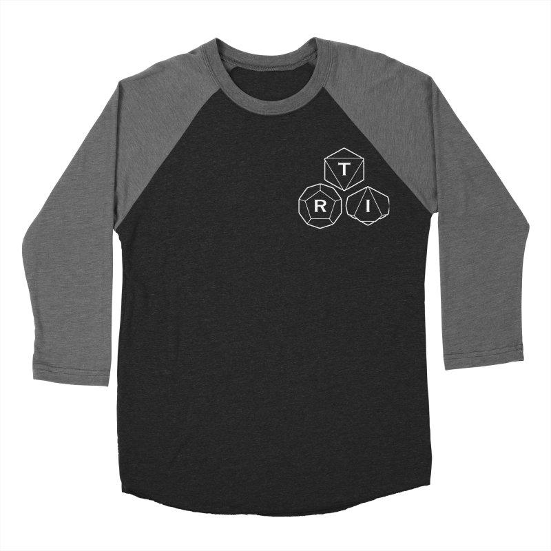 TRI Logo White, upper right Men's Baseball Triblend Longsleeve T-Shirt by The Role Initiative's Artist Shop