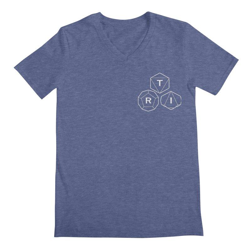TRI Logo White, upper right Men's Regular V-Neck by The Role Initiative's Artist Shop
