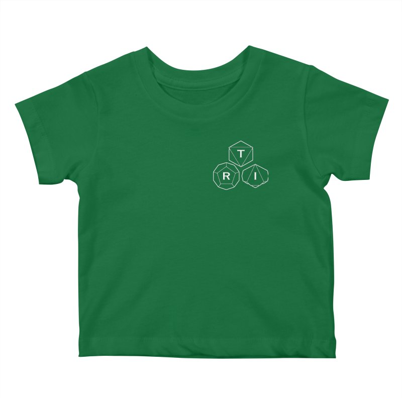 TRI Logo White, upper right Kids Baby T-Shirt by The Role Initiative's Artist Shop