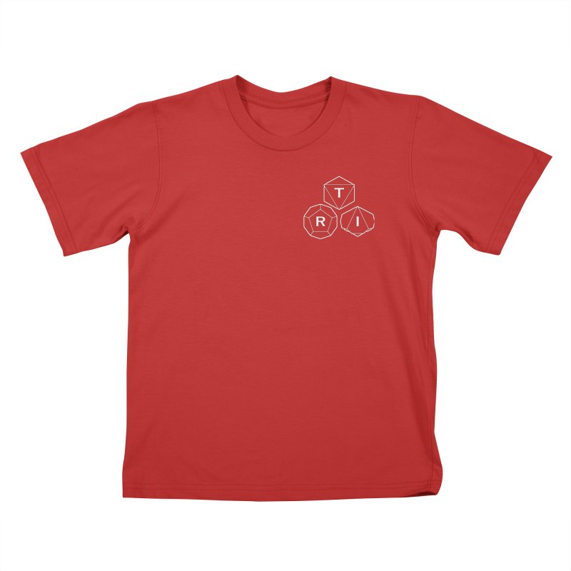 TRI Logo White, upper right Kids T-Shirt by The Role Initiative's Artist Shop