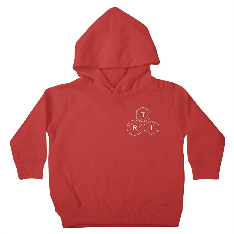 TRI Logo White, upper right Kids Toddler Pullover Hoody by The Role Initiative's Artist Shop