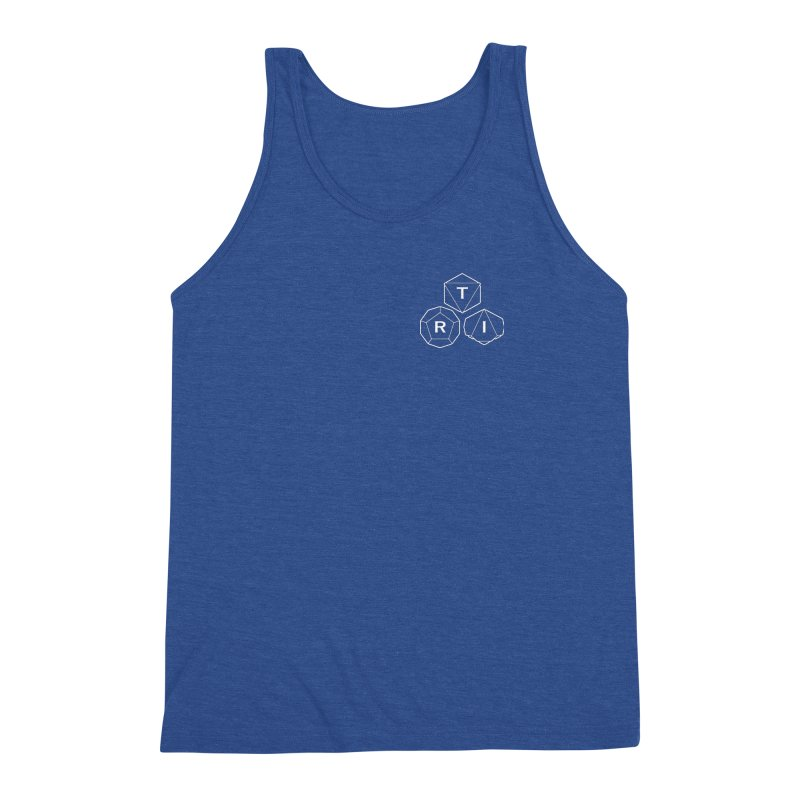 TRI Logo White, upper right Men's Triblend Tank by The Role Initiative's Artist Shop