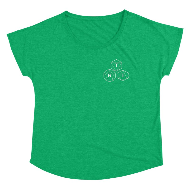 TRI Logo White, upper right Women's Scoop Neck by The Role Initiative's Artist Shop