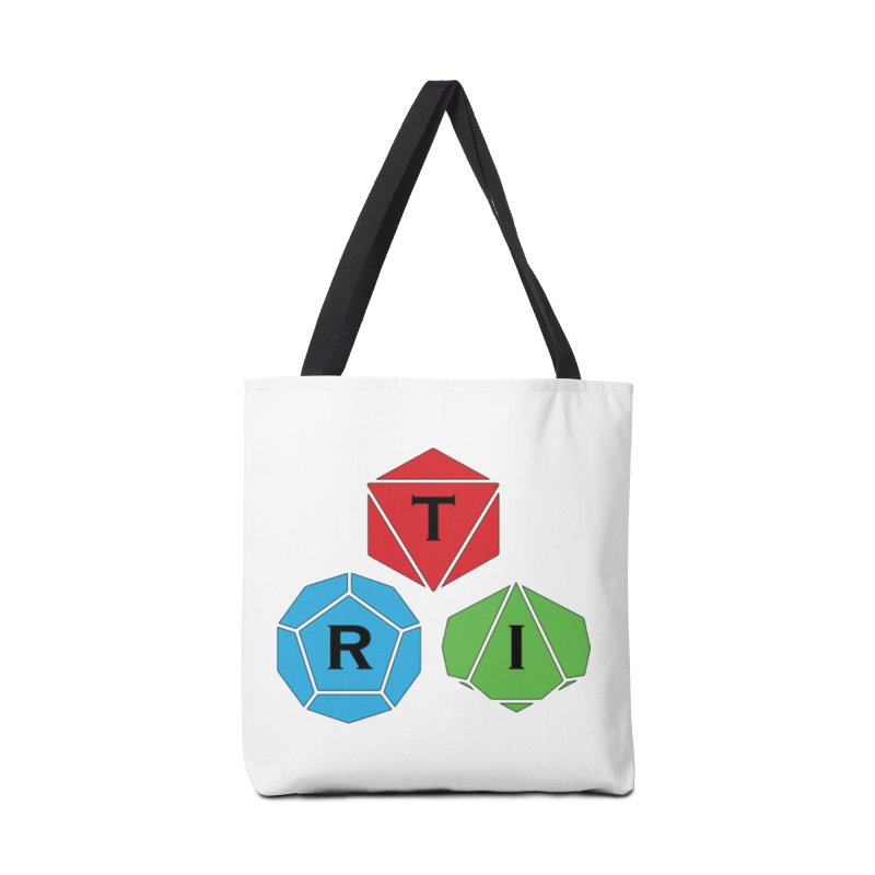 TRI color logo, upper right Accessories Tote Bag Bag by The Role Initiative's Artist Shop