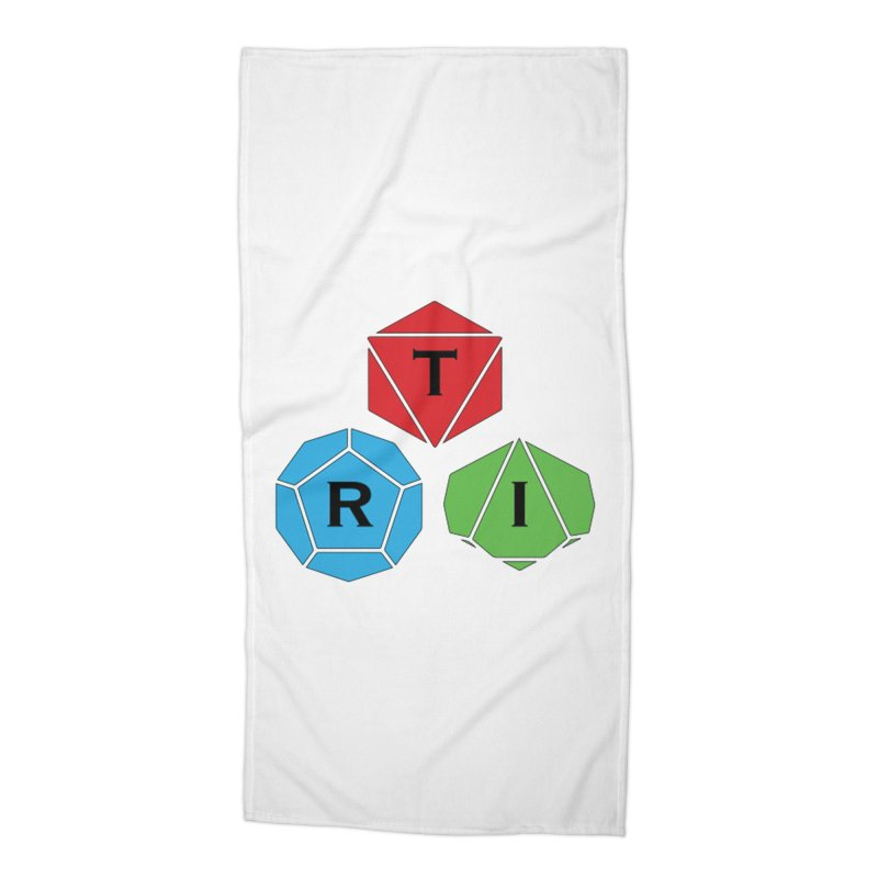 TRI color logo, upper right Accessories Beach Towel by The Role Initiative's Artist Shop