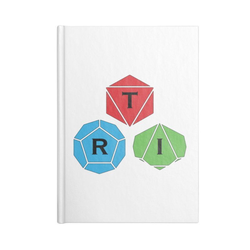 TRI color logo, upper right Accessories Notebook by The Role Initiative's Artist Shop