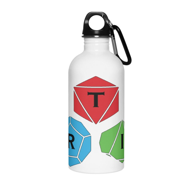 TRI color logo, upper right Accessories Water Bottle by The Role Initiative's Artist Shop