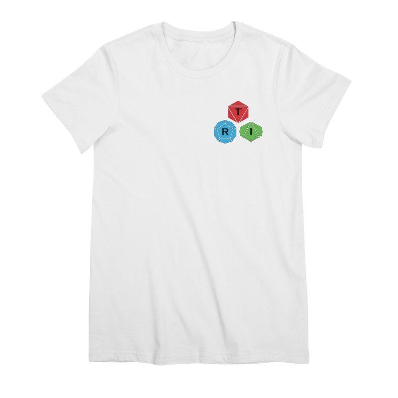 TRI color logo, upper right Women's Premium T-Shirt by The Role Initiative's Artist Shop