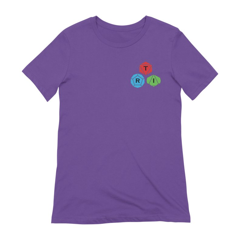 TRI color logo, upper right Women's Extra Soft T-Shirt by The Role Initiative's Artist Shop