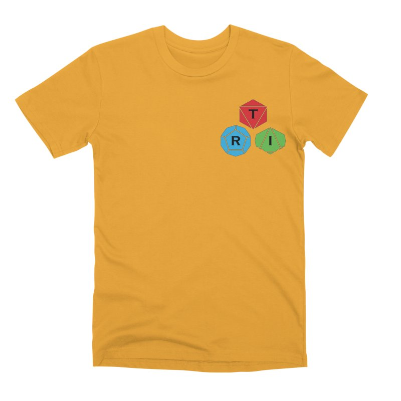 TRI color logo, upper right Men's Premium T-Shirt by The Role Initiative's Artist Shop